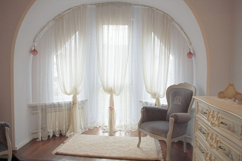 Basic window treatments call for a curtain rod or wire to hold the ...
