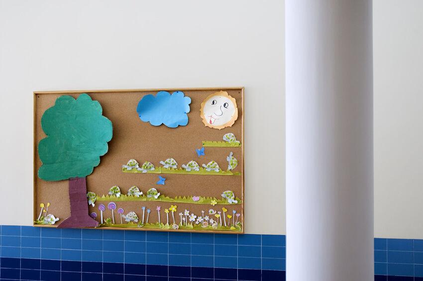 how to hang cork board tiles