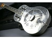 EARLY 2000 NATIONAL STYLE O RESONATOR - BRASS BODY - EBONY FINGERBOARD!