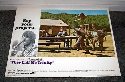 They Call Me Trinity 11X14 Terence Hill Original 1971 Lobby Card Movie Poster