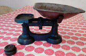 Antique vintage kitchen weighing scales kitchenalia