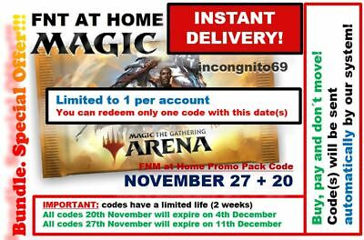 MAGIC MTGA MTG Arena Code FNM Home Promo Pack NOV NOVEMBER 27 20 INSTANT EMAIL