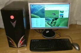 "ASUS M3A32-MVP AMD Phenom 9850 2.50GHz Quad Core 8GB RAM 500GB HDD 20"" LCD"