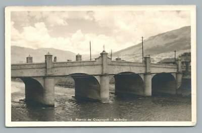 Puente de Guayaquil MEDELLIN Colombia RPPC Antique Photo Foto~Goucher College
