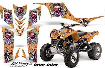 ATV Graphic Kit Quad Decal Sticker Wrap For Kawasaki KFX700 2003-2009 EDHLK ORG