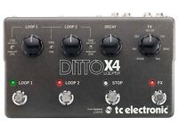 Brand new TC Electronic Ditto X4 Looper. Great price!