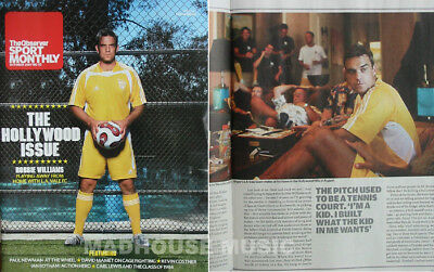 ROBBIE WILLIAMS Magazine The Observer Sport Monthy Robbie Cover + 8 Pg Interview