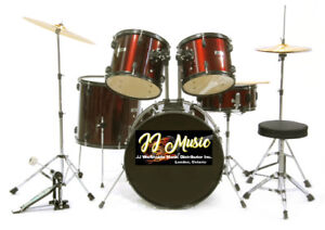 Drum Set Complete for $ 399.99 Includes Stool & Pearl Cymbals