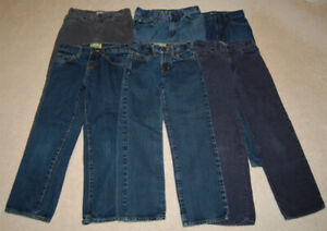 6 Pairs of PLACE & Old Navy Boy Jeans and Corduroy Sizes 7 - 10