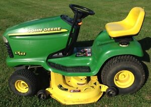 "John Deere LT155 with 48"" Deck!  Runs great! Just tuned up!"