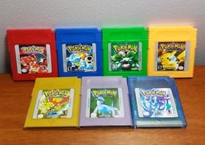 Pokemon Gameboy Colour Vintage Retro Game Cartridges