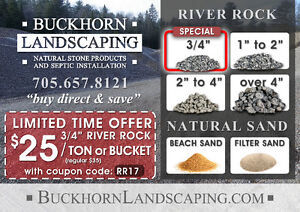 """3/4"""" River Rock Sale """"buy direct and save"""" Buckhorn, ON"""