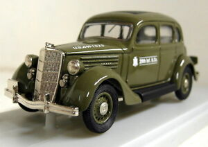 RexToys 1/43 Scale 48 Ford 1935 Conduite Interieure US Army Diecast model car