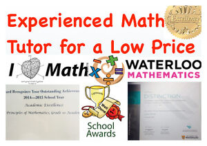 EXPERIENCED MATH TUTOR FOR A LOW PRICE London Ontario image 1