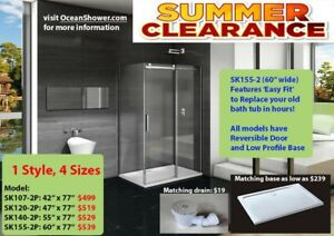 Frameless Tempered Shower Glass Door Retailer Wholesale