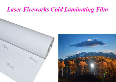 Intbuying Laser Fireworks Cold Laminating Film 0.6931 Yard 25 Inch