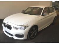 2016 WHITE BMW M135i 3.0 T SPORT PETROL AUTO 5DR HATCHBACK CAR FINANCE FR 75 PW