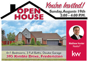 OPEN HOUSE This Weekend - Sunday, August 19th - 2:00-4:00 p.m.