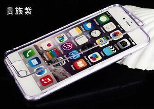 Clear Purple Case + Screen Protector for iPhone 6 Plus & 6s Plus