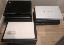 Joblot 15 laptops. Spares or repair