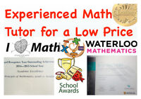 EXPERIENCED MATH TUTOR FOR A LOW PRICE