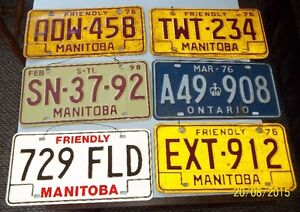 Vintage License Plates - Trailer - Snowmobile and more