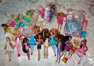 Barbie Doll lot  Mcdonalds Barbies, plus fairy dolls