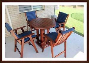 Quality Australian made 5 piece high table outdoor set Brisbane City Brisbane North West Preview