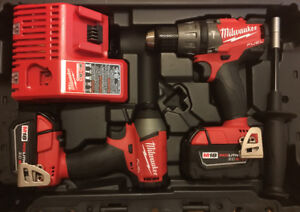 NEW - Milwaukee M18 FUEL 18V Brushles Hammer Drill Impact Driver