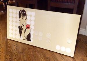 Audrey Hepburn.. Peinture acrylique, handmade acrylic canvas, West Island Greater Montréal image 3