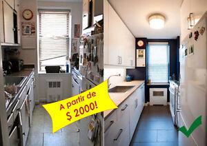 Refacing d'armoires de cuisine à bon prix