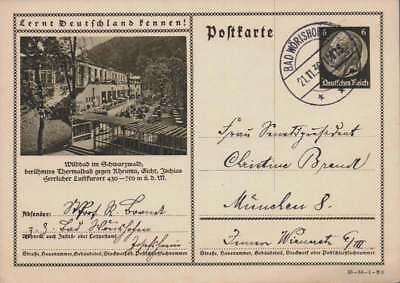 D.Reich Ganzsache P 236 WILDBAD  gelaufen BAD WÖRRISHOFEN 21.11.30 (42841)