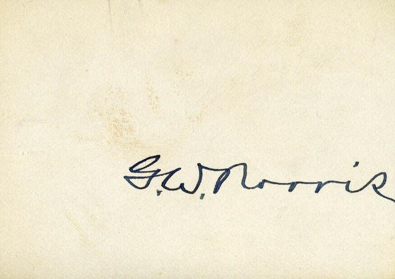 GEORGE WILLIAM NORRIS - SIGNATURE(S)