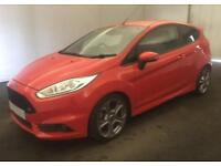 2016 RED FORD FIESTA 1.6 ECOBOOST 180 ST-3 3DR HATCH CAR FINANCE FR £37 PW