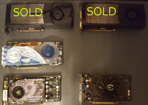 9800GT, HD 3870 video cards for sale