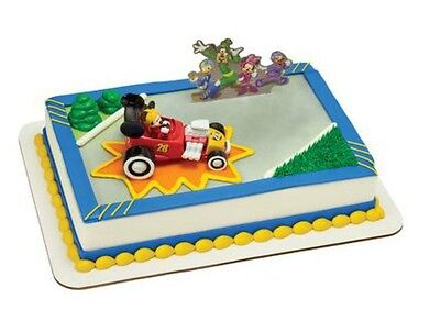 Mickey Mouse & Roadster Racers cake decoration Decoset cake topper set toy car - Cake Decorating Mickey Mouse