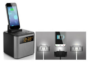 BNIB Philips Bluetooth Clock Radio iPhone/Android Speaker Dock