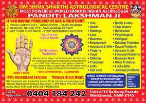 World famous Indian Astrologer &  Pandit LAKSHMAN  JI Westmead Parramatta Area Preview