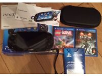 Psvita with built in games plus 2 extra games £120 very good condition