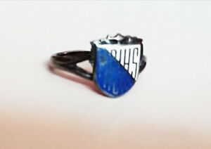Birks Enamel Sterling Silver School Ring