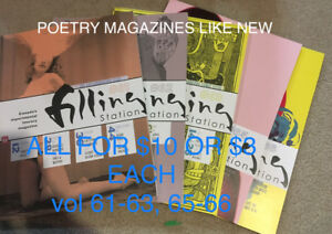 *TABER* POETRY MAGAZINES-THE FILLING STATION LOT OF 5 $10