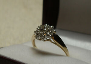 "10kt yellow gold ""Diamond Cluster"" Engagement Ring"