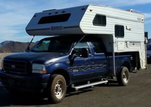 F350 4x4 Truck with Lance 1010 Camper