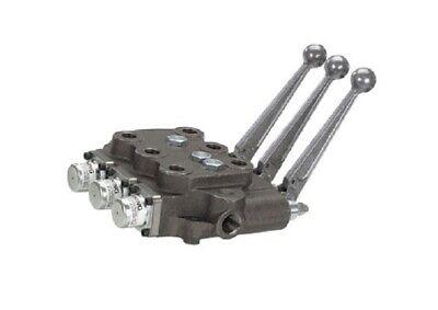 Cross Hydraulic Triple Spool 3-position 4-way Open Center Control Valve No Float