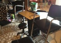 Manicure Table, 2 Chairs with Attachments and Stool