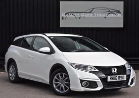 2016 Honda Civic 1.6 i-DTEC Nav Tourer Estate SE Plus Diesel *Metallic White*
