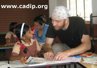 Teaching children and raising health awareness in India