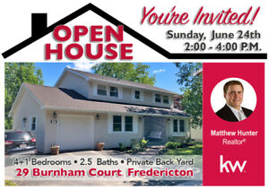 OPEN HOUSE - Come See Me, Sunday, June 24th - 2:00-4:00 p.m.
