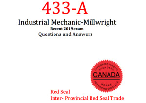 Industrial Mechanic - Millwright 433-A Exam Questions -Red Seal