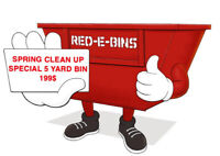Red-eBins, for all your clean up needs!!